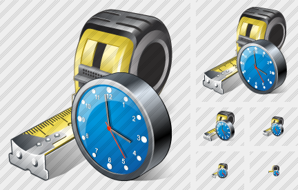 Tape Measure Clock Icon