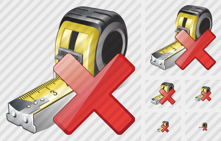 Tape Measure Delete Icon