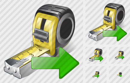 Tape Measure Export Icon