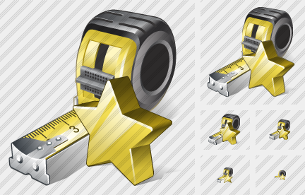 Tape Measure Favorite Icon