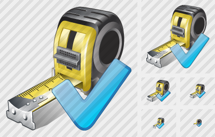 Tape Measure Ok Icon
