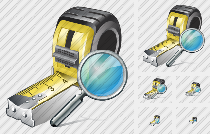 Tape Measure Search Icon