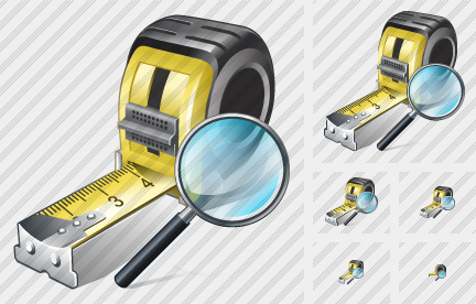 Tape Measure Search 2 Icon