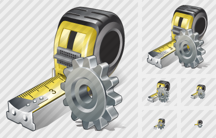 Tape Measure Settings Icon