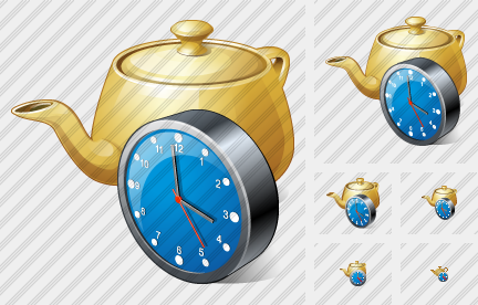 Icone Teapot Clock
