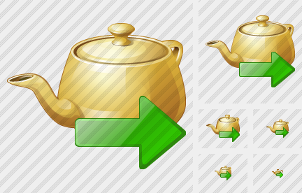 Teapot Export Icon