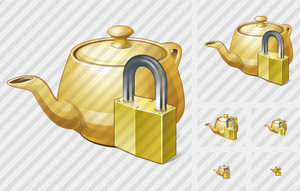 Icone Teapot Locked
