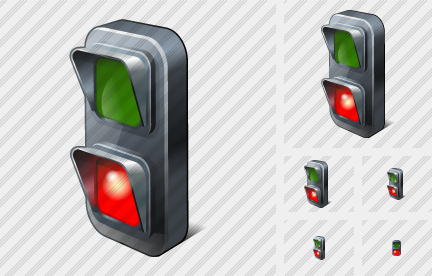 Traffic Lights Red Icon