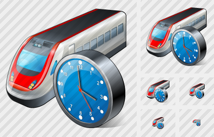 Icone Train Clock