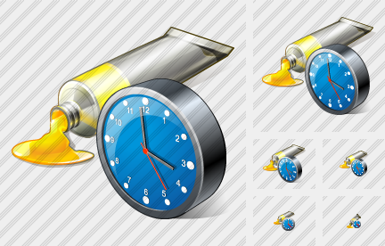 Icone Tube Paint Clock