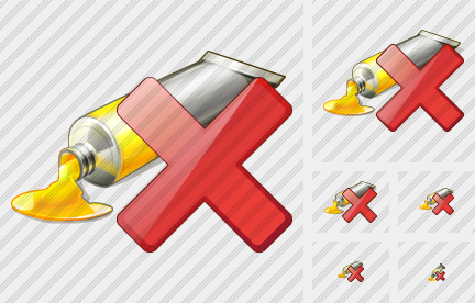 Icone Tube Paint Delete