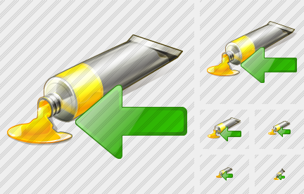 Tube Paint Import Icon