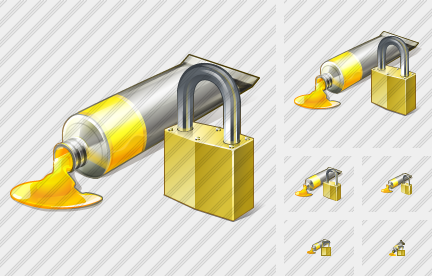 Icone Tube Paint Locked