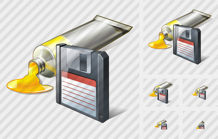 Icone Tube Paint Save