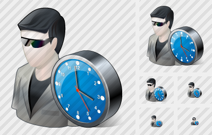 User Sun Glasses Clock Icon