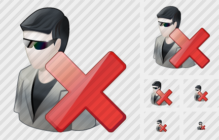 User Sun Glasses Delete Icon