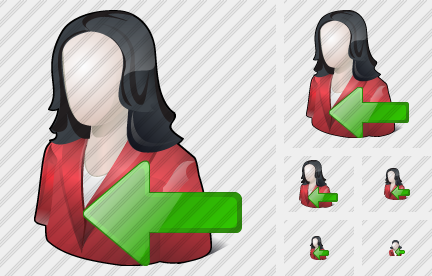 User Woman Import Icon