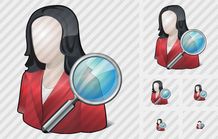 User Woman Search Icon