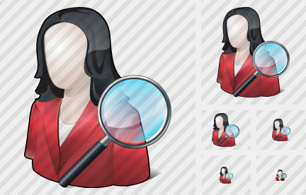 User Woman Search 2 Icon