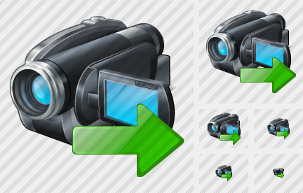 Video Camera Export Icon