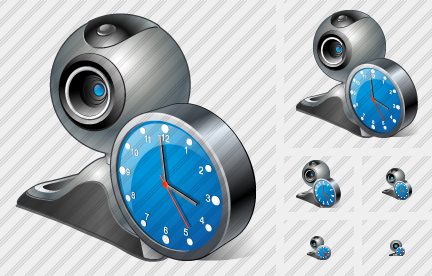 Web Camera Clock Icon