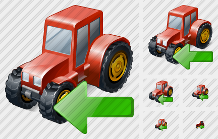 Wheeled Tractor Import Icon