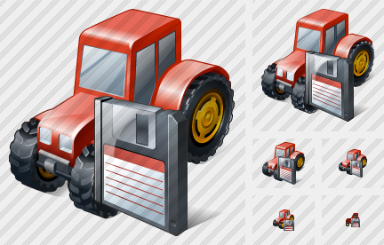 Wheeled Tractor Save Icon