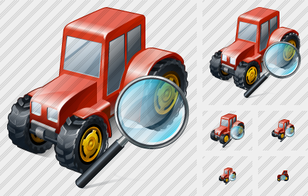 Wheeled Tractor Search 2 Icon