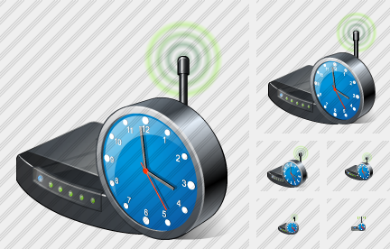 Wi Fi Spot Clock Icon