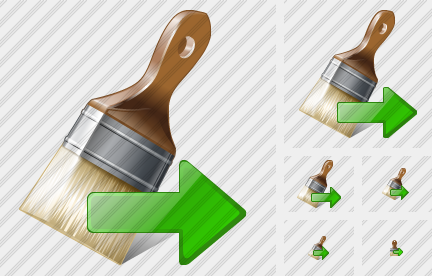 Wide Brush Export Icon