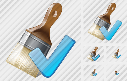 Wide Brush Ok Icon