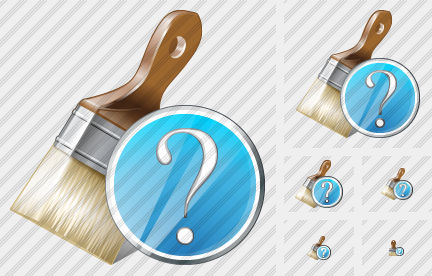 Wide Brush Question Icon