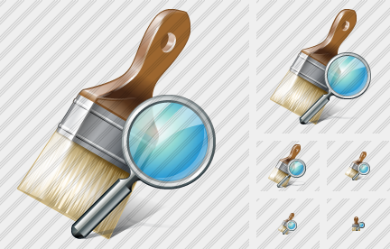 Wide Brush Search Icon