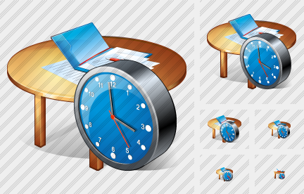 Icone Work Table Clock