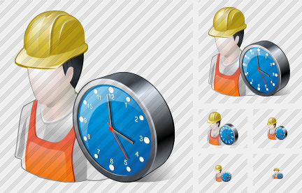Worker Clock Icon