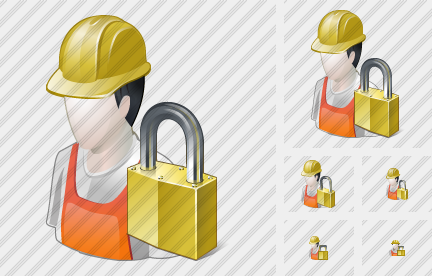 Worker Locked Icon