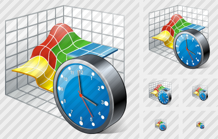 Icone 3D Graph Clock