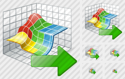 3D Graph Export Icon