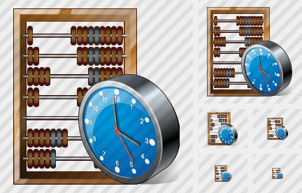 Abacus Clock Icon