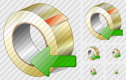 Adhesive Tape Import Icon