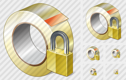 Adhesive Tape Locked Icon