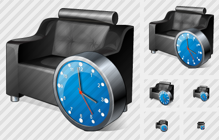 Armchair Clock Icon