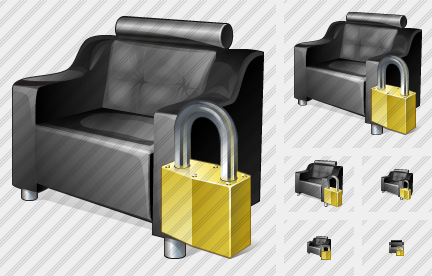 Armchair Locked Icon