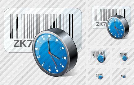 Bar Code Clock Icon