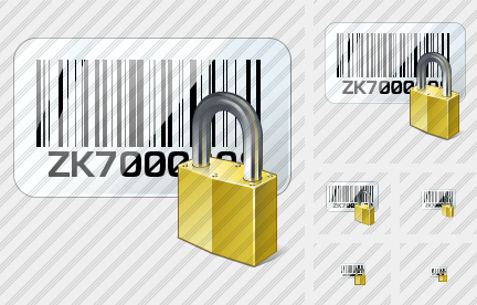 Bar Code Locked Icon