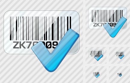 Bar Code Ok Icon