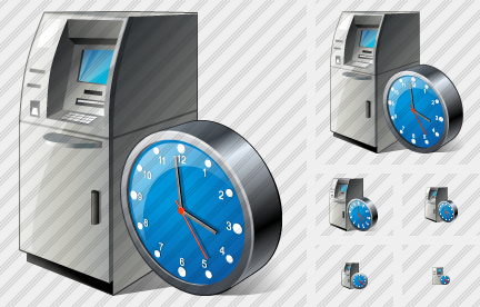 Cash Dispense Clock Icon