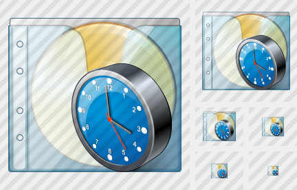 CD Box Clock Icon