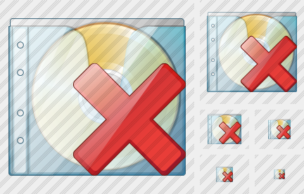 CD Box Delete Icon