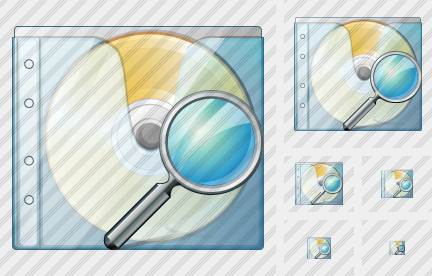 CD Box Search Icon